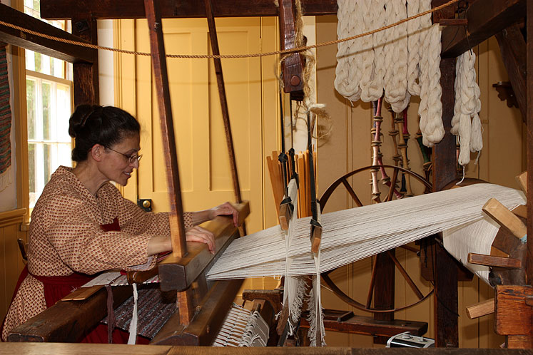 Toronto Photos :: Black Creek Pioneer Village :: Black Creek Pioneer Village - a textile workshop