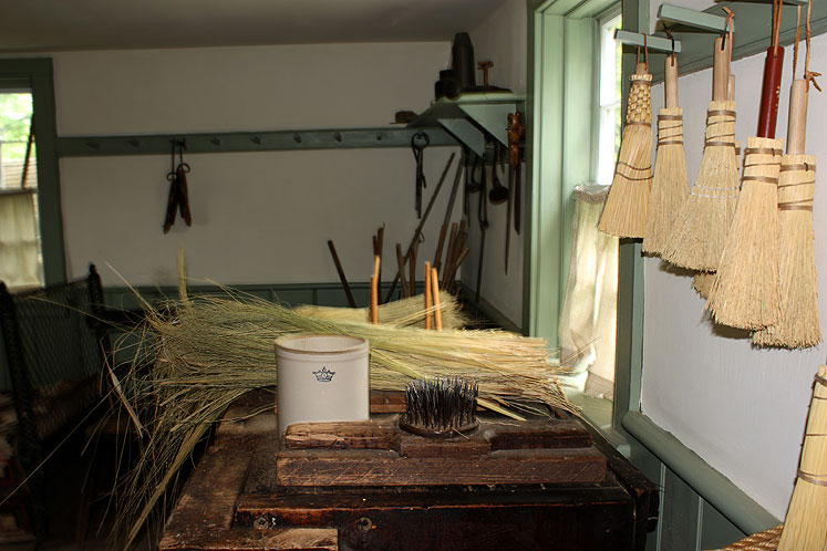 Toronto Photos :: Black Creek Pioneer Village :: Black Creek Pioneer Village - a broom making