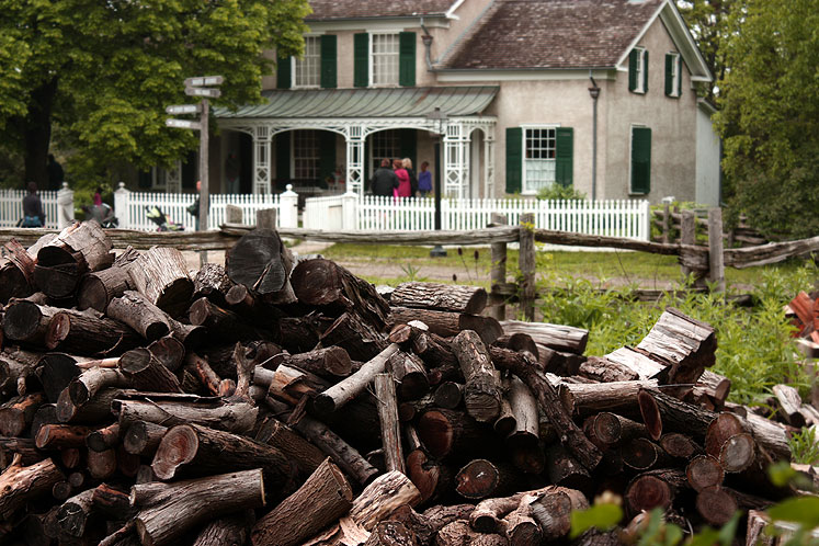 Toronto Photos :: Black Creek Pioneer Village :: Black Creek Pioneer Village - firewood