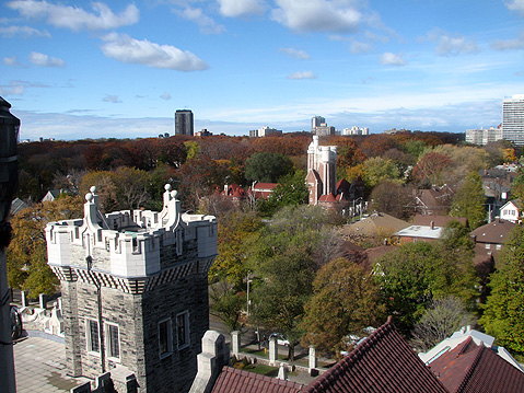 Toronto Photos :: Panoramic views :: Toronto. View from the Top of Casa Loma Castle