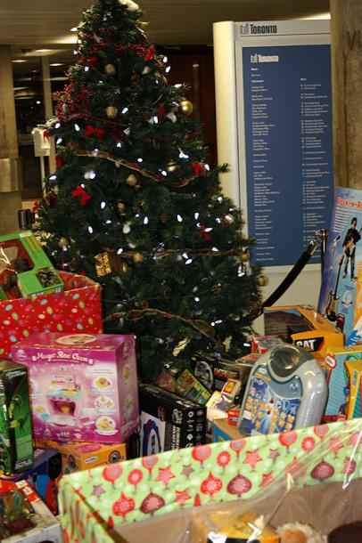 Toronto Photos :: City Hall :: A Toy Drive in a City Hall