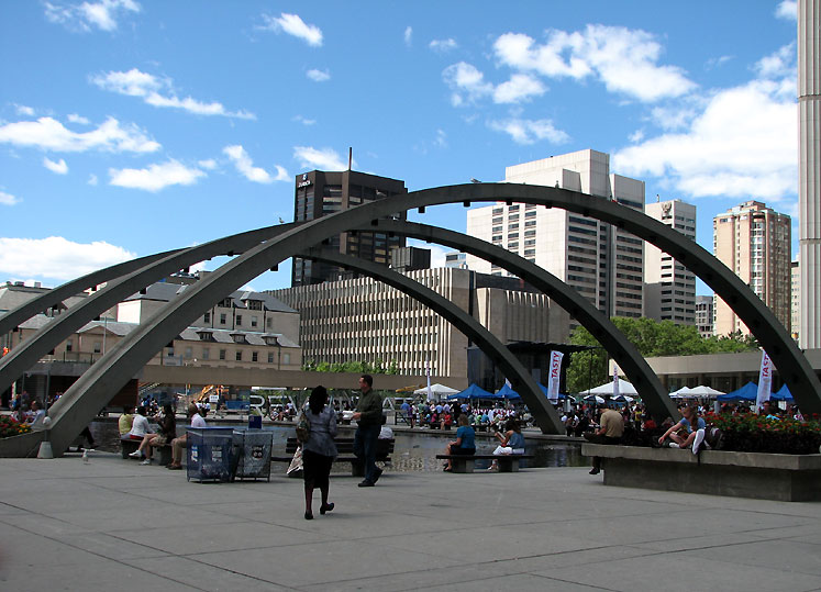 Toronto Photos :: Nathan Phillips Square  :: Downtown Toronto. A square in front of Toronto City Hall
