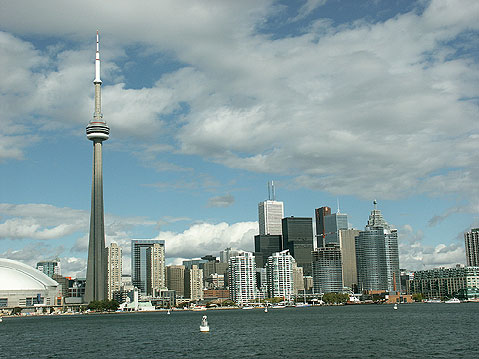 Toronto Photos :: CN Tower :: Toronto. Spectacular view of downtown