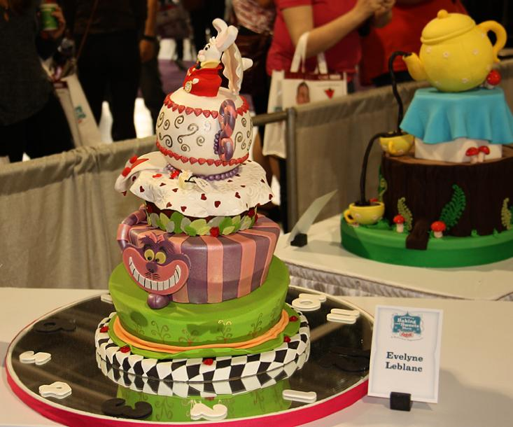 Toronto Photos :: Canadas Baking And Sweets Show 2013 :: Canada`s Baking & Sweets Show 2013 - Alice in Wonderland Themed cake