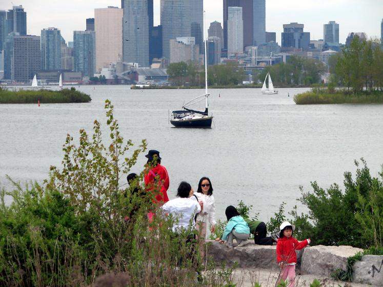Toronto Photos :: Tommy Thompson Park :: Tommy Thompson Park - view on Downtown