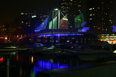 Toronto Photos :: Night views :: Toronto. Harbourfront at night