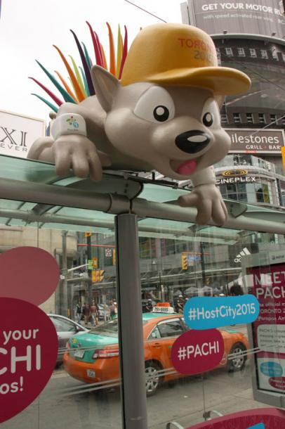 Toronto Photos :: Downtown :: A symbol of Pan Am games in Toronto on Dundas Square